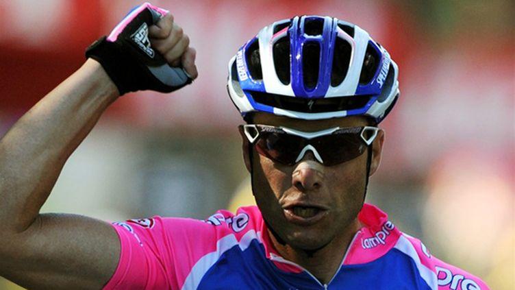 Alessandro Petacchi (Lampre) peut lever le poing, il était le plus rapide.