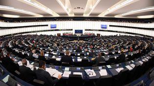 L'hémicycle du Parlement européen de Strasbourg, le 15 novembre 2017. (FREDERICK FLORIN / AFP)
