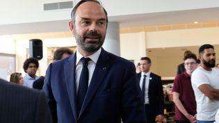 """Édouard Philippelance la stratégie """"Bienvenue en France"""", pour attirer plus d'étudiants étrangers en France d'ici 2027. (THEO ROUBY / AFP)"""
