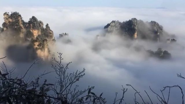 Mer de nuages au centre de la Chine