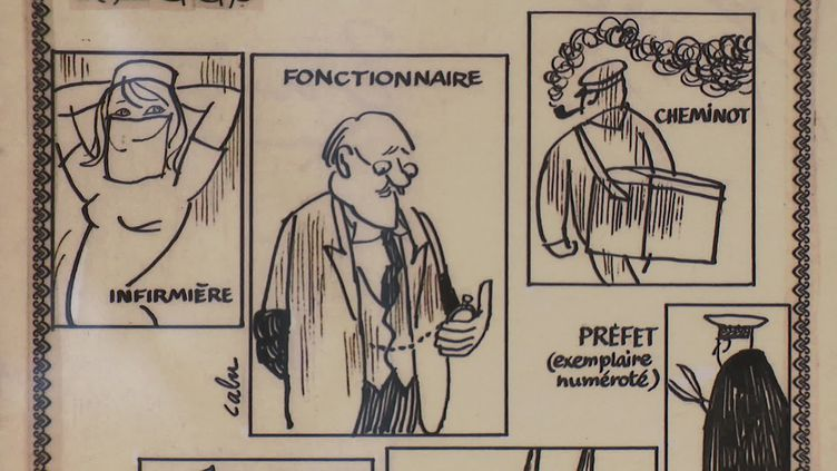 Un dessin de Cabu exposé à la Ducuchotèque jusqu'en septembre 2020 (France 3 Champagne : R. Domergue /)
