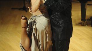 Le danseur et chorégraphe argentin Juan Carlos Copes et sa fille Johana lors du Festival de tango de Buenos Aires, le 14 août 2012. (MAXPPP)