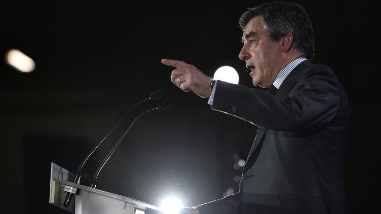 François Fillon, le 27 mars 2017, à Nantes (Loire-Atlantique). (JEAN-SEBASTIEN EVRARD / AFP)