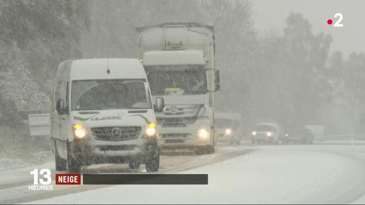 La neige est arrivée en Haute-Loire. (FRANCE 2)
