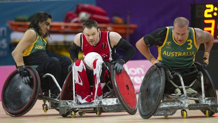 Lors des Jeux Paralympiques de 2012 à Londres... (MIGUEL MEDINA / AFP)