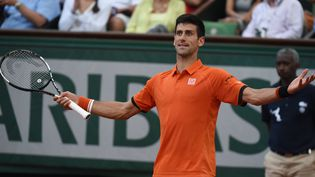Novak Djokovic lors de sa demi-finale de Roland-Garros contre Andy Murray, le 5 juin 2015. (PASCAL GUYOT / AFP)