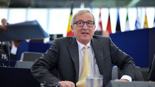 Le président de la Commission européenne, Jean-Claude Juncker, participe à un débat au Parlement européen, le 7 juillet 2015 à Strasbourg (Bas-Rhin). (PATRICK HERTZOG / AFP)