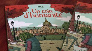 """""""Un coin d'humanité"""", le roman graphique de Kek, chronique au plus près des bénévoles et bénéficiaires des Restos du coeur (France 3 Paris Ile de France)"""
