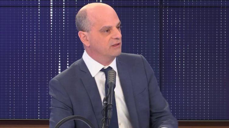 Jean-Michel Blanquer, le ministre de l'Education nationale, le 29 mai 2020 sur franceinfo. (FRANCEINFO / RADIO FRANCE)