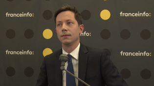 François-Xavier Bellamy, tête de liste Les Républicains pour les élections européennes du 26 mai, était l'invité de franceinfo jeudi 23 mai 2019. (FRANCEINFO)