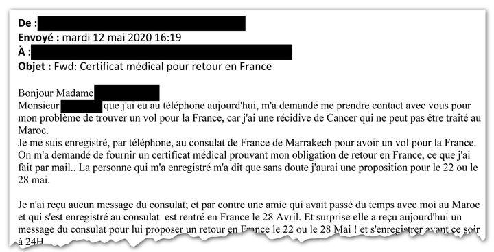 """""""Je n'ai reçu aucun message du consulat"""" : dans ce mail, des Français bloqués au Maroc expriment leur mécontentement. (CELLULE INVESTIGATION DE RADIO FRANCE)"""