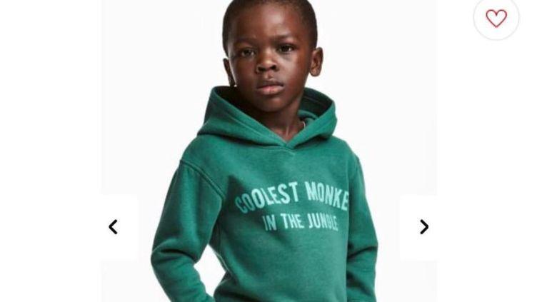 Capture d'écran d'une publicité du groupe H&M retirée après des accusations de racisme. (H&M)