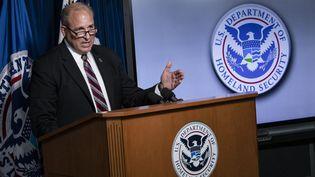 Mark Morgan, ministre américain des Douanes, le 21 juillet 2020 à Washington DC. (SAMUEL CORUM / GETTY IMAGES NORTH AMERICA / AFP)