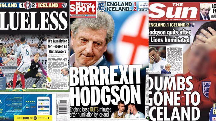 """Quelques Unes des journaux britanniques après """"l'autre"""" Brexit de l'Euro"""