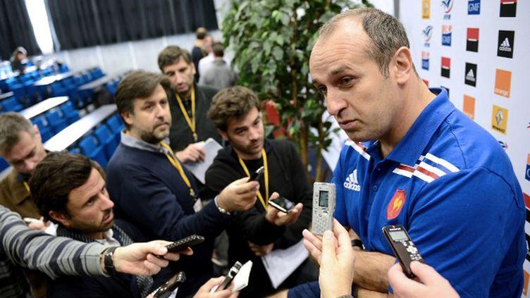 Philippe Saint-André explique ses choix (FRANCK FIFE / AFP)