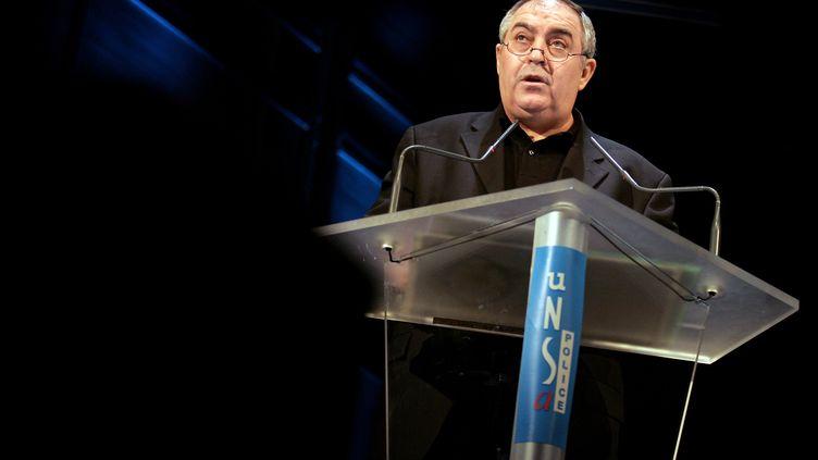 L'ancien secrétaire général de l'Unsa-police, Jo Masanet, au moment de quitter ce poste, le 27 février 2008. (ALAIN JULIEN / AFP)