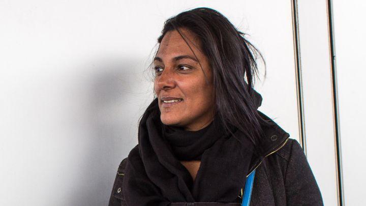 Samira Jaouadi, le 5 mars 2019 à Paris. (VIOLAINE JAUSSENT / FRANCEINFO)