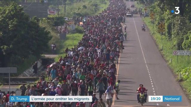 Migrants : Donald Trump alerte l'armée