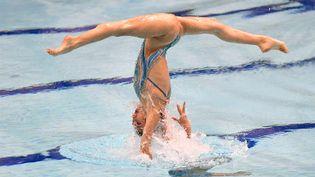 Les championnats européens de natation synchronisée ont lieu à Glasgow, le 3 août 2018. (FRANCETVSPORT)