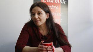 Sabine Atlaoui est la femme du Français Serge Atlaoui, condamné à mort pour trafic de drogue en Indonésie. (FRANCOIS GUILLOT / AFP)