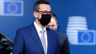Le Premier ministre conservateur polonais,Mateusz Morawiecki, à Bruxelles (Belgique), le 1er octobre 2020. (DURSUN AYDEMIR / ANADOLU AGENCY / AFP)