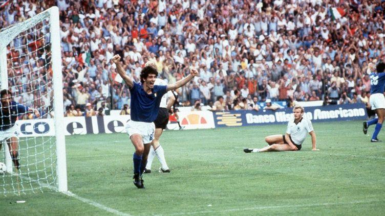 Paolo Rossi, buteur en finale du Mondial 82, contre l'Allemagne (?FARABOLA/LEEMAGE)