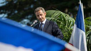 Nicolas Sarkozy participe à l'université d'été des Républicains, le 5 septembre 2015, à La Baule (Loire-Atlantique). (  MAXPPP)