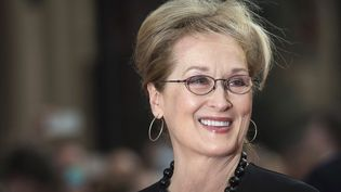 """Meryl Streep à la première mondiale de """"Florence Foster Jenkins"""" à Londres le 12 avril 2016. Son rôle dans ce film de Stephen Frears lui vaut sa 20e nomination aux Oscars.  (Will Oliver / EPA / MaxPPP)"""