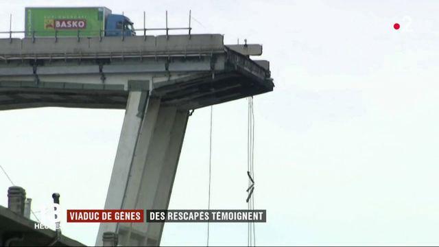 Viaduc de Gênes : les rescapés témoignent
