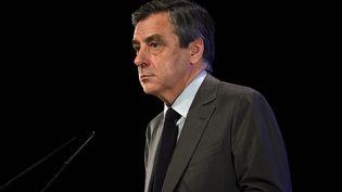 François Fillon lors d'un meeting àChasseneuil-du-Poitou (Vienne), le 9 février 2017. (GUILLAUME SOUVANT / AFP)