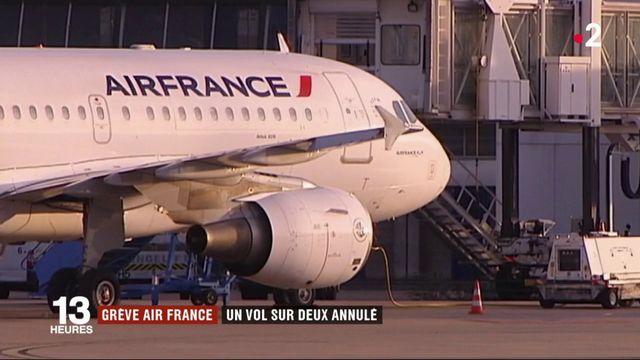 Air France : un vol sur deux annulé à cause de la grève
