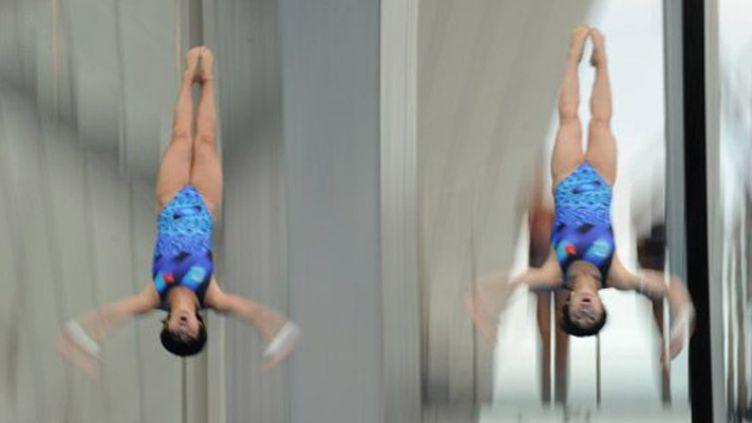 La coordination des Chinoises Chen Ruolin et Wang Hao au 10m synchronisé