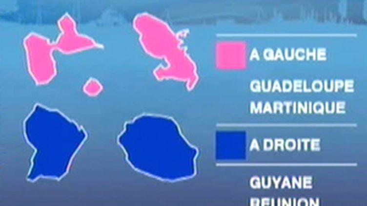 Les résultats des régionales dans les départements d'outre-mer (F2)
