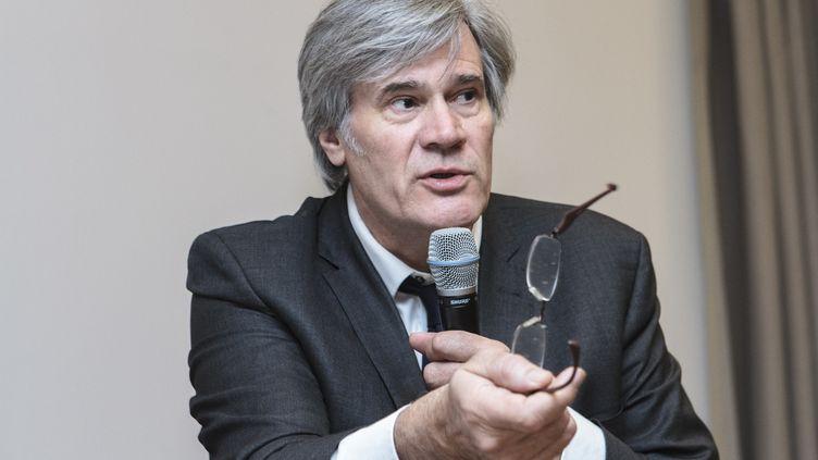 Le porte-parole du gouvernement, Stéphane Le Foll, tient une conférence de presse le 24 janvier 2017. (CITIZENSIDE/CHRISTOPHE BONNET / CITIZENSIDE)