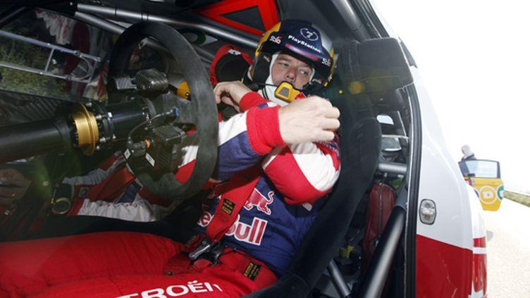 Sébastien Loeb (Citroën) boucle sa ceinture (COLIN MCMASTER)