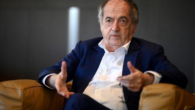 Le président de la Fédération française de football, Noël Le Graët, lors d'une interview à Paris, le 8 mars 2021. (FRANCK FIFE / AFP)