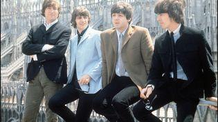 Les Beatles près du Dôme de Milan, le 24 juin 1965. (FARABOLA / LEEMAGE / AFP)