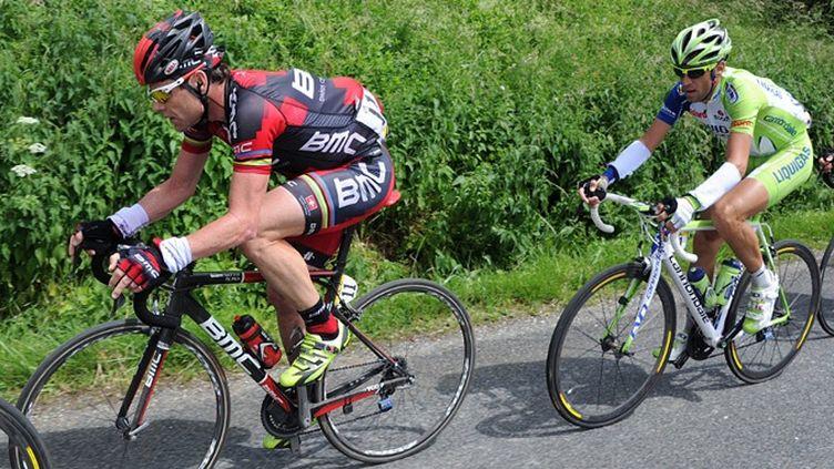 Cadel Evans (BMC) et Vincenzo Nibali (Liquigas)
