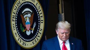 Le président américain Donald Trump à la Maison Blanche, le 8 décembre 2020. (SAUL LOEB / AFP)