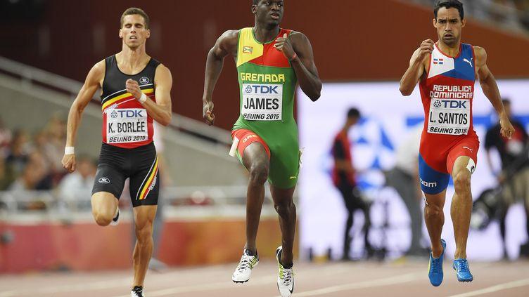 Kirani James, l'un des favoris sur 400m (OLIVIER MORIN / AFP)