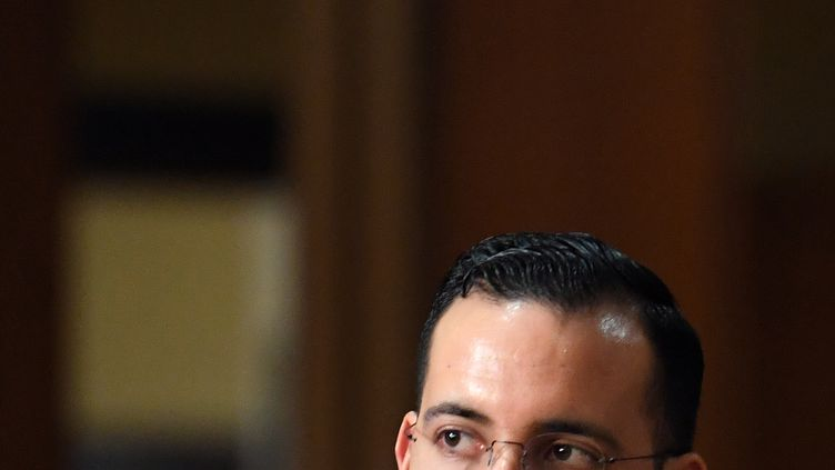 Alexandre Benalla au Sénat, le 21 janvier 2019. (ALAIN JOCARD / AFP)