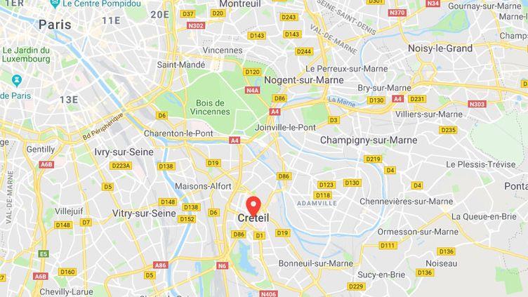 L'agression s'est produite au lycéeÉdouard-Branly de Créteil, dans le Val-de-Marne. (GOOGLE MAPS)