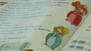 Une page de manuel d'apprentissage de lecture en CP, octobre 2015 (- / FRANCE 2)