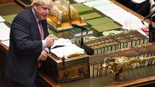 Le Premier ministre britannique, Boris Johnson, le 22 janvier 2020 au Parlement. (JESSICA TAYLOR / AFP)