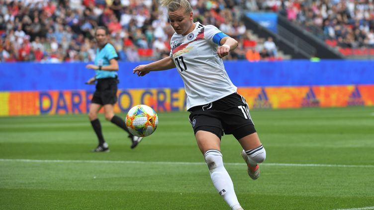 La joueuse allemande Alexandra Popp, le 8 juin 2019. (LOIC VENANCE / AFP)