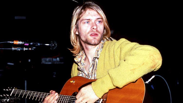 Kurt Cobain à New York au début des années 90.  (Kevin Mazur/ WireImage/ Getty Images)