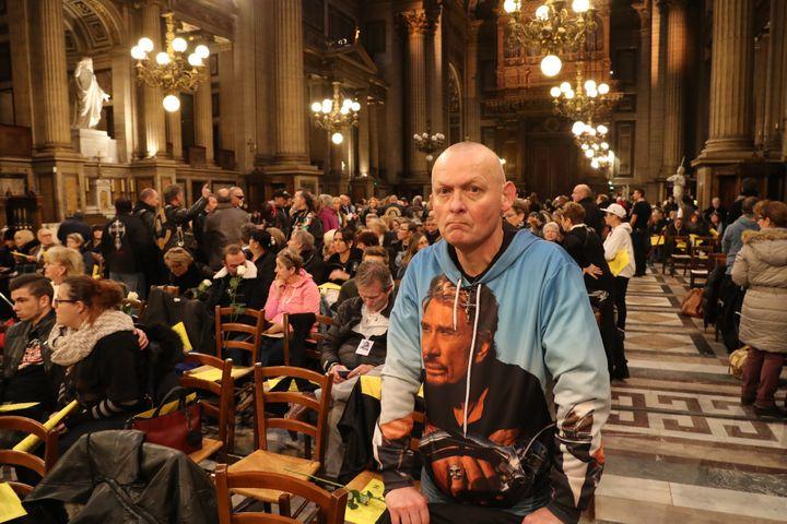 Eglise de la Madeleine, hommage à Johnny, 09 décembre 2018  (JACQUES DEMARTHON / AFP)