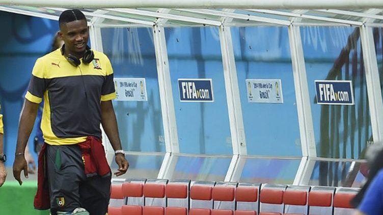 Samuel Eto'o parlera après la Coupe du monde.  (PIERRE-PHILIPPE MARCOU / AFP)