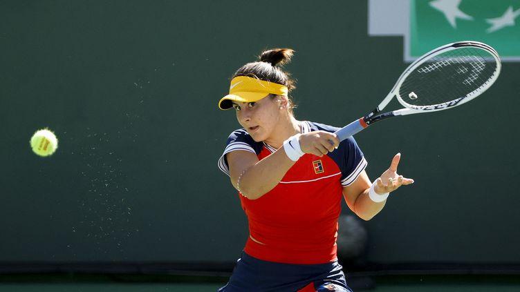 La Canadienne Bianca Andreescus'est inclinée au troisième tour face à l'EstonienneAnett Kontaveit; le 11 octobre 2021 à Indian Wells, Californie. (TIM NWACHUKWU / GETTY IMAGES NORTH AMERICA / AFP)