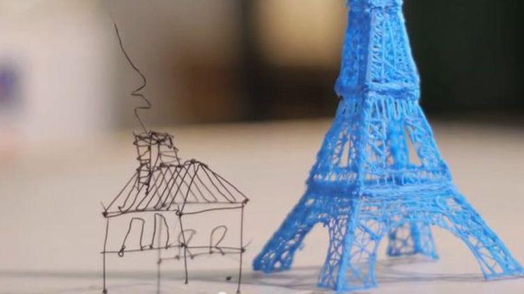 Dessins en 3D réalisés avec un 3Doodler.  (3Doodler)
